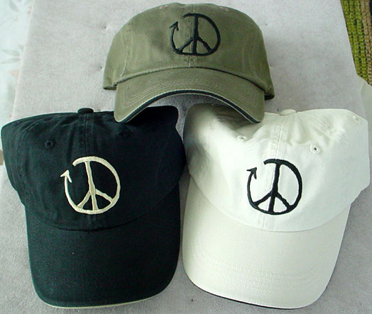 peace sign hats recycle peace